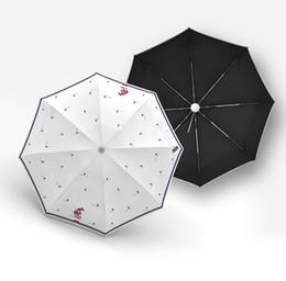 $enCountryForm.capitalKeyWord UK - New Mini Folding Umbrella Women Five Fold Sunscreen Umbrellas Anti UV Black Coating Windproof 8K Parasol Small Paraguas