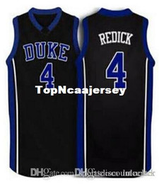 5a7f88b31ad0 Factory Outlet  4 JJ Redick Duke Blue Devils blue white black Basketball  Jersey Throwbacks Stitched Jerseys Customized Any Name And Number