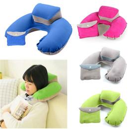 $enCountryForm.capitalKeyWord NZ - New Arrival Inflatable U-shaped Pillow Nap Leisure Travel Essentials Neck Pillow Protect Headrest Office Soft Pillows Hot Sale