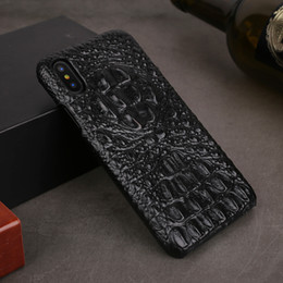 $enCountryForm.capitalKeyWord NZ - For Iphone Xs Max XR Case Genuine Leather Cases for IPhone X XS 6S 8 7 Plus Case Back Cover Luxury 3D Crocodile Alligator Skin