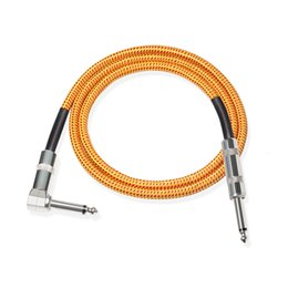 Chinese  Electric Guitar Audio Cable For Equalizers Electronic Organ Electric Bass Wait Electronic Musical Instrument Equipment Connecting Cable manufacturers