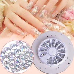diy nail studs Canada - Glier DIY Wheel Decorations White AB Clear Marquise 3D Horse Eye Rhinestones Nail Acrylic Nail Art Studs Tips 1 Box