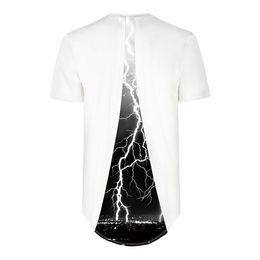 T Shirt Digital Printing Sport Australia - Explosions of lightning digital printing stitching sports base shirt T-shirt novelty casual tops Short Sleeve Creative printed Tees