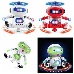 dancing musical toys 2019 - Cute Electric Music Light Dancing Robot Smart Toys Space Walking Toys Musical Action Figures Toys OOA5017 discount danci