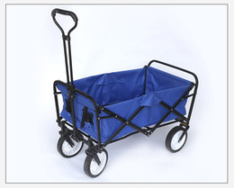 2018 Hot Sale Folding 4 Wheel Wagon Trolley With Lining Foldable  Collapsible Cart 77*50*30cm Portable Fold Trailer
