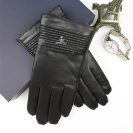 $enCountryForm.capitalKeyWord Australia - Men Gloves Natural Leather Male Winter Warmer Gloves Made of Italian sheepskin Fashion Plush Lining touch screen Driving Mittens