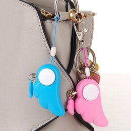 personal alarm cell phone NZ - Angel Wings Protection Panic Safety Security Anti-Wolf Alarm Personal Self Defense Supplies Alarm Key Ring LCC