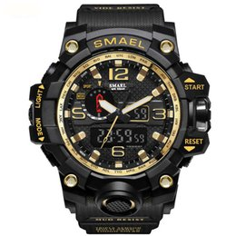 SMAEL мода спортивные мужские часы - Кварцевые аналоговые многофункциональные цифровые часы открытый военный водонепроницаемый часы для мужчин бойфренд подарок