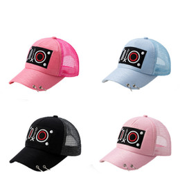 fashion hip hop girls NZ - 2018 New Fashion Summer Girl Cartoon Kids Adjustable Baseball Cap Hip Hop Hats Solar Protection Hat