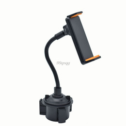 Discount tablet cradle holder car - Car Vehicle Drinks Cup Holder Phone Mount 360 Rotatable Cradle with Longer Neck for 4 -10.5 inch Phone Smartphone Tablet