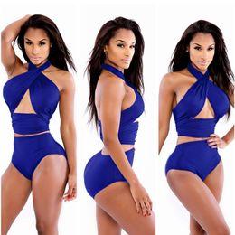 Großhandel Hot 2018 Brasilianische Sexy Print Bikinis Frauen Bademode Push Up Badeanzug Weibliche Bikini Set Strand Badeanzug Biquini
