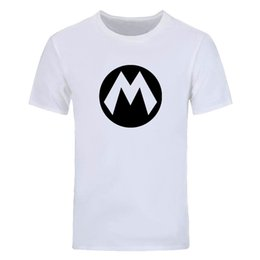 new mario t shirts 2020 - New Summer Super Mario T Shirt Men Cartoon Game T-shirts Men Fashion Short Sleeve Cotton O-neck Mario Tops Tee DIY-0547D