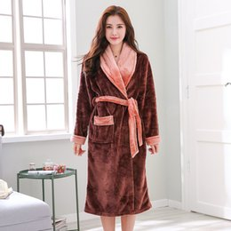 a800e8b704 Plus Size 4XL 5XL 6XL Kimono Robe Satin Warm Flannel Womens Robe Thicken  Winter Bathrobe Women elegant Sleepwear 100kg Can Wear