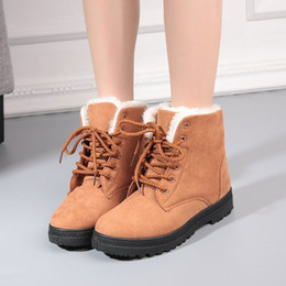flat shoes korean styles 2019 - chelsea boots women winter woman snowboots martin booties cotton botas korean style shoes short baby plush genuine woman