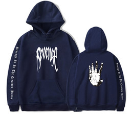 Wholesale xxxtentacion hoodies for sale - Group buy Mens Rapper Hip Hop Sweater Palm Hands Painted XXX REVENGE Print Hooded Sweatshirt XXXTENTACION Men Women Pullover Hoodies Tops