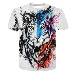 $enCountryForm.capitalKeyWord UK - men printed t shirts summer casual 3d printing tiger t shirt fashion casual men s tshirt short sleeved top free shipping clothes