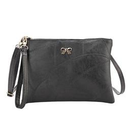 541cece759 PU Leather Women Bag Fashion Desiger Bowknot Clutch Handbag Bolsa Feminina  Party Shoulder Bag Black Small Handbag Female Clutch