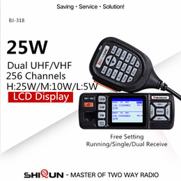 Radio Vhf Uhf Car NZ - Baojie BJ-318 Car Walkie Talkie Dual Band VHF UHF Mobile Radio 20 25W Walkie Talkie 10 km Car Radio 10 KM Upgrade of BJ-218 Z218