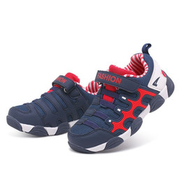 shoes blue soles designer Canada - Kids Shoes Toddler Girls Designer Sneakers Comfortable Baby Boys Soft Sole Students Lace up Running Children Shoes