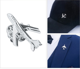 mens brooches NZ - SAVOYSHI Funny Silver Aircraft Shape Men Lapel Pin Brooches Pins Fine Gift for Mens Brooches Collar Party Engagement Jewelry