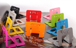 $enCountryForm.capitalKeyWord Canada - Bottom Price Portable Card Phone Holders Colorful Cell Phone Mounts Cute Mini Foldable Stand Holders for Mobile Phone iPad