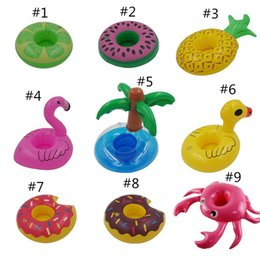 Carino gonfiabile Flamingo Drink Can Holder Cell Phone Galleggiante Stand Nuoto Piscina Bagno Beach Party Party Kids Toy Bath Toy 0185 in Offerta