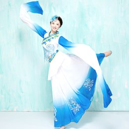 modern costume women NZ - Chinese Folk Dance Cinese Costume Long Sleeves Astonishing Show 2018 New Pattern Woman Ancient Dance Clothing Practice Modern