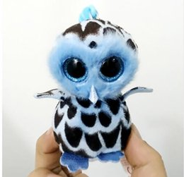 "Discount owl toys for kids - 4"" 10cm Yago the Owl Clip Keychain Plush Big-eyed Stuffed Animal Collectible Soft Doll Toy for Kid"