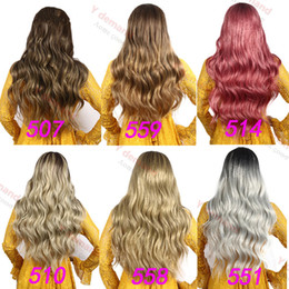Wholesale Blonde Long Wavy Curly Wig Fashion In Stock Charming Simulation Like Human Hair Weave Full Wigs For Black Women Y demand