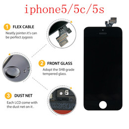 Lcd screen iphone5 online shopping - For original iphone5 series LCD touch screen ipone5 c s original mobile phone display free DHL shipping