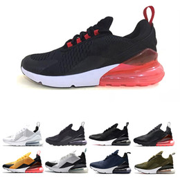 best black sneakers for men 2019 - New Men Sport Casual Shoes For mens 270 Run Cheap Best Quality triple black Outdoor 27C Women Shoes jogging sneaker teni