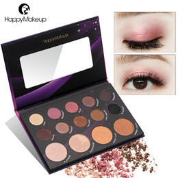 $enCountryForm.capitalKeyWord Canada - Happy Makeup Fashion 14 Color Make Up Cosmetic Shimmer Matte Natural Highlight Eye Shadow Eyeshadow Waterproof Palette Kit Set