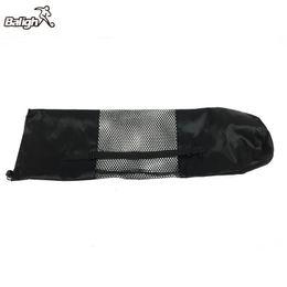 c71677f97 Negro Portátil Estera de Yoga Bolsa de Nylon Pilates Portador Malla Correa  Ajustable Deporte Herramienta Estilo