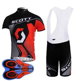 $enCountryForm.capitalKeyWord Australia - Scott team Cycling Short Sleeves jersey (bib) shorts sets Spring and summer bike Jersey suit men's quick dry bicycle clothing 92827J