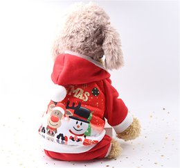 coat apparel for dog 2019 - Festive Pet Dog Clothes Christmas Costume Cute Cartoon Clothes For Small Dog Cloth Costume Dress Xmas Apparel Free Shipp