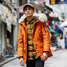 $enCountryForm.capitalKeyWord NZ - Casual Winter Jacket Male Parka Coat Men's Hooded Warm Overcoat Fashion Thick Fur Mens Coat 2018 Solid Color Quality Jacket 1135