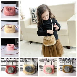 winter wallet 2019 - Baby Kids Purses Fashion Autumn Winter Girls Handbags Lovely Design Bowknot Imitation Leather And Fur Coin Purses Wallet
