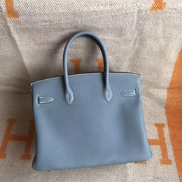 025496c6876 women TOTE 50% hand-made classic Togo leather handmade Stitching Authentic  classic togo bags handbags gray ladies tote shoulder bag