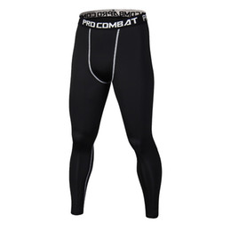 Mens capris wholesale online shopping - New Black Pants Mens Compression Pants Camouflage Casual Capris Tights Skinny Leggings Bodybuilding Male Trousers