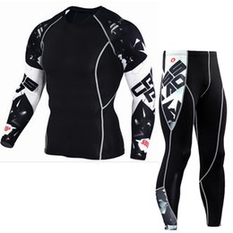 4f88177a5ba Newest Fitness Compression Sets T Shirt Men 3D Printed MMA Crossfit Muscle  Shirt Leggings Base Layer Tight Tops