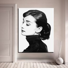 $enCountryForm.capitalKeyWord NZ - Framework DIY Oil Painting By Numbers Audrey Hepburn Canvas Pictures Handpainted Time Inverted Image For Living Room Wall Art