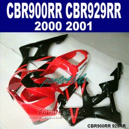 Honda Cbr929 Australia - Free custom Fairings set for Honda CBR900RR CBR929 2000 2001 red black fairing kit CBR929RR00 01 CV47