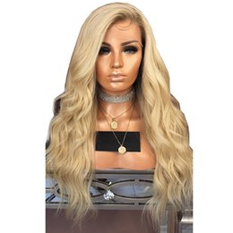 blonde body wave full lace Canada - Blonde Lace Front Wigs Ombre Virgin Brazilian Body Wave Pre Plucked Hairline Glueless Blonde Ombre Human Hair Wig With Baby Hair