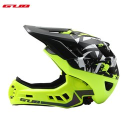 xs accessories 2019 - GUB Bicycle EPS PC MTB Bike Skating Helmet Cycling Accessories Men Women Ful Face Intergrally-molded Helmets with Brim 5