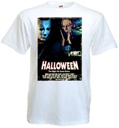 size 11 shorts NZ - Halloween V.11 T Shirt White Movie Poster All Sizes S - 3xl Print T Shirts Man Short Sleeve T Shirt Top Tee