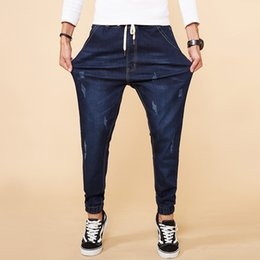 $enCountryForm.capitalKeyWord Canada - 2018 Spring New Scratched Stretch Jeans Men Fashion Casual Denim Harem Pants Male Slim Fit Large Big Size M-7XL 8XL High Quality