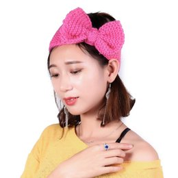 Knitted hair accessories for babies online shopping - Crochet Bow Headband for Women and Baby Girls Winter Ear Warmer Knitted Hair Band Warmer Headband Hair Band Accessories