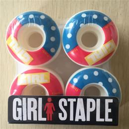 Girl Skateboards Red Canada - New GIRL Wheels 51mm 53mm 54mm Skateboard Wheels PU for Double Rocker