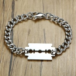 "$enCountryForm.capitalKeyWord NZ - Cool Wiper Blades Shaped Charm Bracelets for Men Stainless Steel Chain Wrist pulsera masculina 8.26"""
