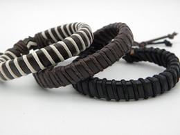 $enCountryForm.capitalKeyWord Australia - Best Seller New Stylish Real Leather Braided Hemp Bracelets Retro Handmade Retro Leather Wristband Bracelet For Men Girls Xmas Gifts